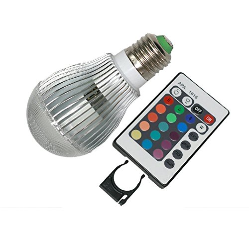 eBoTrade E27 Energy Efficient 10W LED E27 Color Changing Mood Light Bulb w/ Remote Control & Dimmer (Remote Control Lamp Dimmer compare prices)