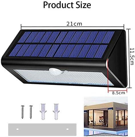 Luz solar, cuerpo impermeable al aire libre 38LED que detecta la ...
