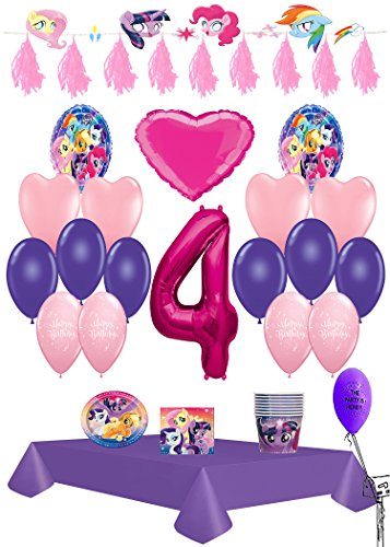My Little Pony 4th Birthday Ultimate Party Pack 61pc
