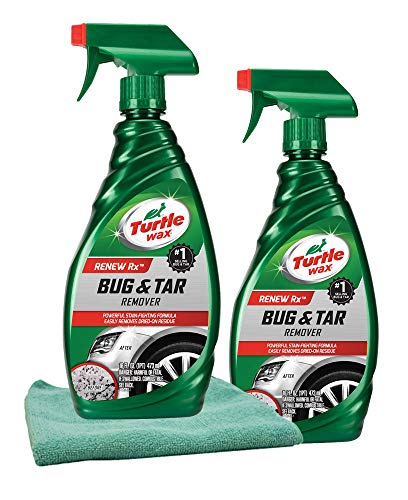 Turtle Wax Cloths - Turtle Wax Bug & Tar Remover (16 oz.) Bundle with Microfiber Cloth (3 Items)