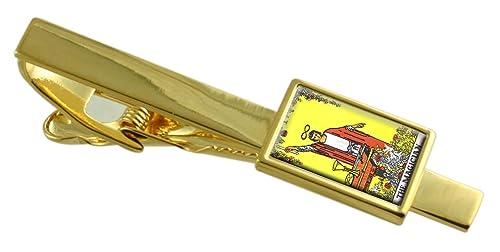 Select Gifts Tarot Mago Tarjeta Gold-Tono Clip de Corbata Cuadro ...