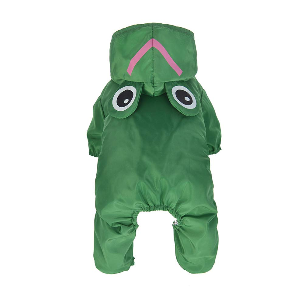 Green Small Green Small Pet Supplies, Dog Clothes, pet Raincoats, pet Clothes, Dog Raincoat Poncho