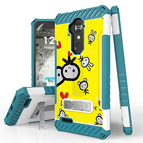 ZTE Grand X Max 2, Imperial Max, Blade X Max, ZMAX Pro, Blade Max 3, Max Duo, MAX XL Case, Spots8 Dual Layer Armor Phone Cover With Screen Protector Phone Strap Kickstand Love Me More