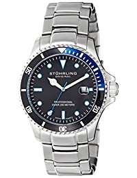 Stuhrling Original Men's 326B.331151 Aquadiver Regatta Elite Swiss Quartz Diver Date Watch