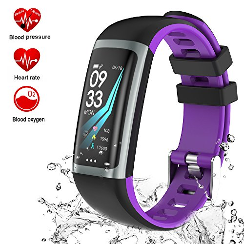 TEYO Fitness Tracker Watch, Activity Tracker Smart Watch with Heart Rate Blood Pressure Monitor, Color Screen Smart Band with Sleep Monitor Step Calorie Counter, Pedometer Watch, IP67 Waterproof