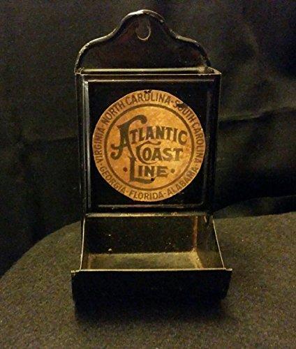 (Vintage Style Atlantic Coastland Railroad Matchbox Holder .Handcrafted by Artist)