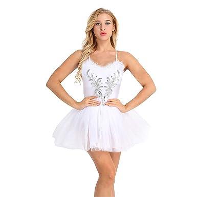 TiaoBug Mujer Adultas Vestido de Ballet Disfraz de Princesa Lago ...