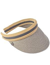 JESSE · RENA Womens Straw Golf Visors Caps Sun Beach Hats