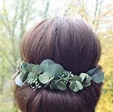 Eucalyptus Hair Pins Set of 9 Green Leaves Headpiece Greenery Wedding Hairpiece Floral Accessory