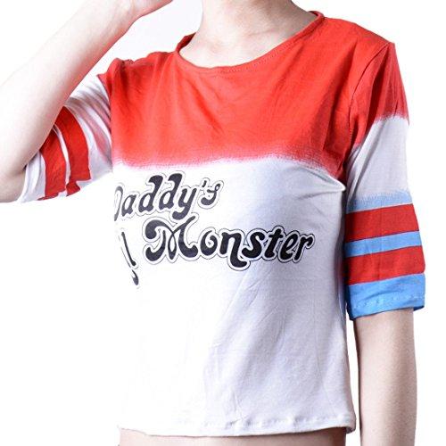 Wraith Of East Harley Quinn T-shirt Girl Costume XS (Lil Monster Halloween Costume)