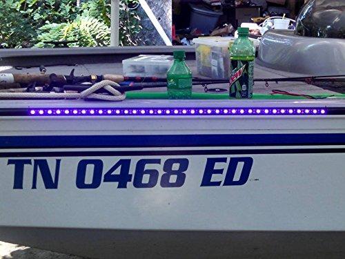 LED Blacklight for Night Fishing Ultraviolet boat rub rail
