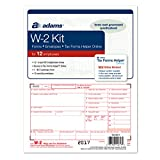 #7: Adams W-2 Tax Forms for 2017 - 6-part form sets for 12, W-3 transmittal form, 12 envelopes and access to Adams TFH Online (TXA12617) Made in the USA