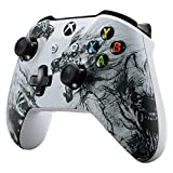 eXtremeRate Soft Touch Grip Wolf Soul Front Housing Shell Faceplate for Microsoft Xbox One X & One S Controller