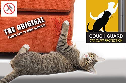 COUCH GUARD Upholstery CAT Claw Protector. Includes 2 SELF-Adhesive Protectors 24