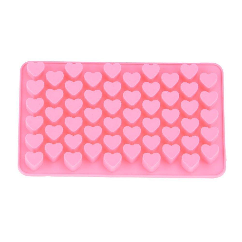 fablcrew molde de silicona 55 corazones molde para gelatina velas pasteles 18,5 * 11 * 1.4 cm: Amazon.es: Hogar