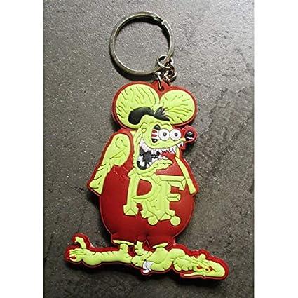 hotrodspirit - Llavero Rat Fink marrón Amarillo plástico ...