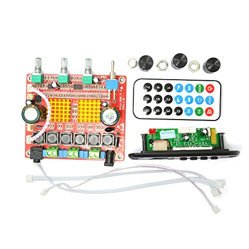 Q-BAIHE 12V Bluetooth MP3 APE Decoder Board with 2.1 Class D Digital Power Amplifier Finished Board