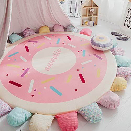 Airmall 100% Cotton Round Bedroom Carpet Kids Climbing Mat Living Room Carpet Tent Bed Mattress