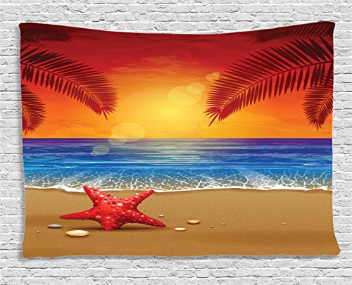 Tropical Decor Tapestry Wall Hanging - Summer wall art