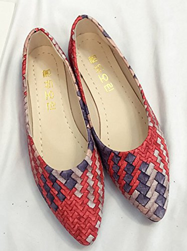 Shoes On Aisun Low Red Women's Loafers Slip Chic Top qqaSp1w