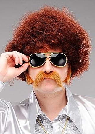 Magic Box Disfraz de Peluca Afro Frizzy para Hombre Disco ...