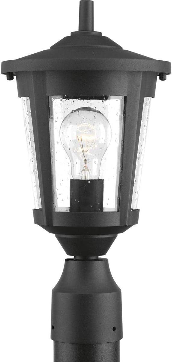 Progress Lighting P6425-31 Contemporary Soft 1-100W Med Post Lantern, Black