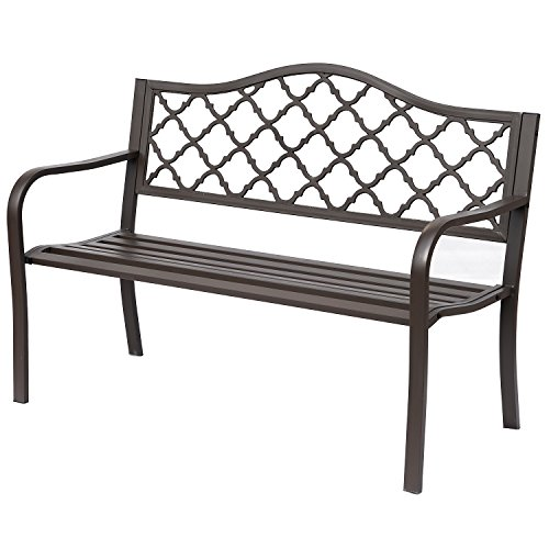 Outsunny Antique Style Cast Iron Outdoor Front Porch Bench For Sale