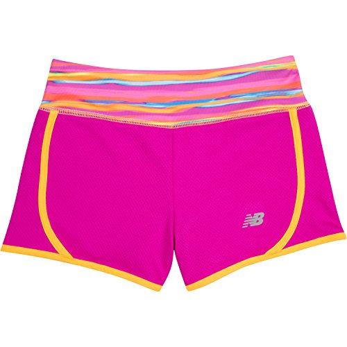 New Balance Big Girls' Athletic Shorts, Azalea, 16