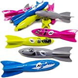 Boley 12 Piece Sinking Dive Torpedo Pool Toys for Kids - Underwater Swimming Diving Toy For Summer Pool Parties - Great as Party Favors