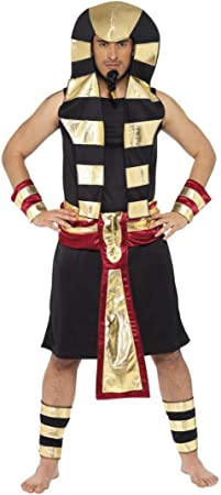 Disfraz de Faraón Egipcio Negro para hombre: Amazon.es ...