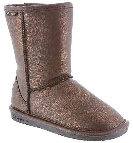 Chocolate Metallic Footwear - BEARPAW Women's Emma Short Shearling Boots 608-W (8, Chocolate/Bronze Metallic)