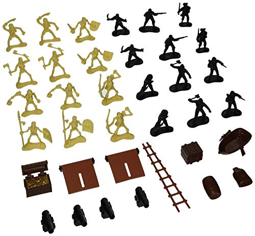 (Big Game Toys~36 BATTLING Pirates & Skeletons Swords Treasure Action Figures Army Men Toy Soldiers New )