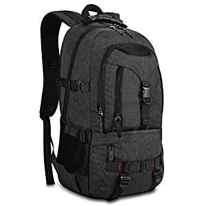 KAKA Terylene Fabric Backpack for 17-Inch Laptops Black New