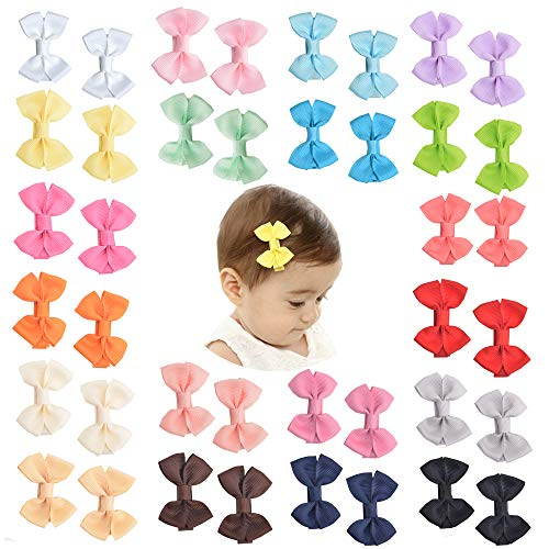 (Prohouse Tiny Baby Hair Clips Boutique Hair Bow Clip Barrettes for Baby Girls Toddlers Kids ...)