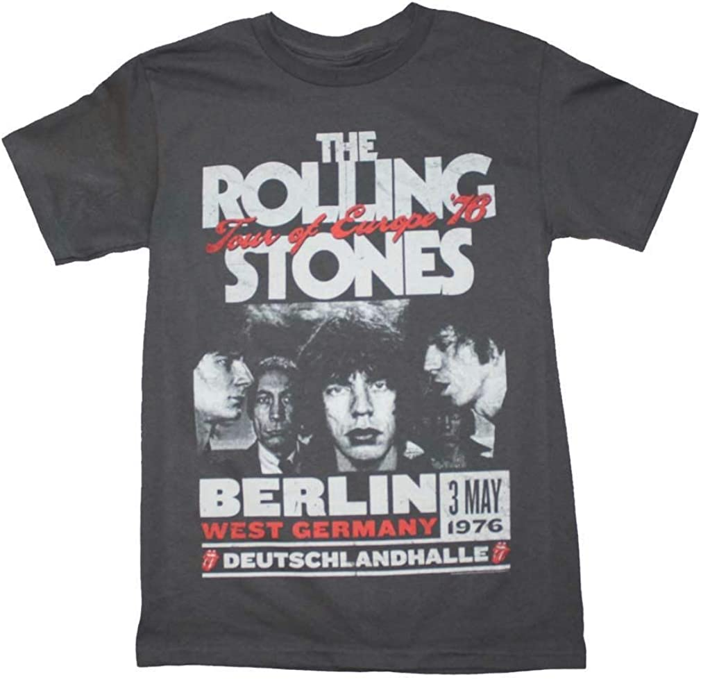 Rolling Stones Europe 76 Tour Charcoal T-Shirt