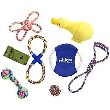 Pet Supplies : SILVER CARDINAL PetMischief 9 Pack Dog Toys