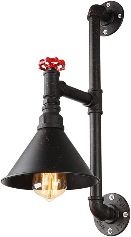 Industrial 5 Lights Water Pipe Wall Lamp Sconce Vintage Steampunk Wall Light