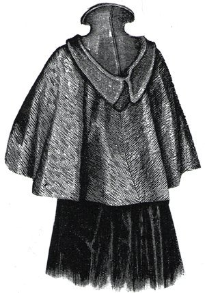 1894 Cape w/Hood of Double Faced Cloth Pattern (Elizabethan Costume Pattern)
