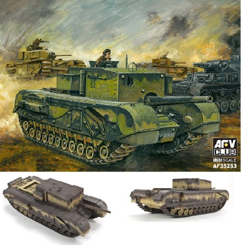 (AFV35253 1:35 AFV Club Churchill 3 inch 20 CWT Gun [MODEL BUILDING KIT])