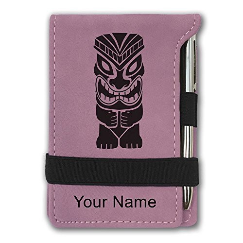 Mini Notepad, Tiki Statue, Personalized Engraving Included ()