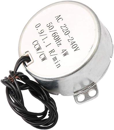 Yibuy Motor Synchron para Ventilador eléctrico, vástago Plano no ...