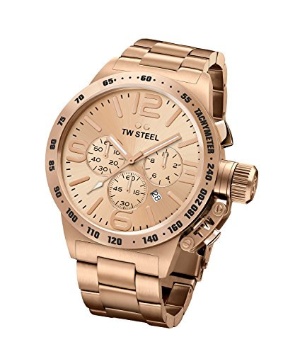 TW Steel Canteen Men's Chronograph Rose Gold PVD Watch - CB233