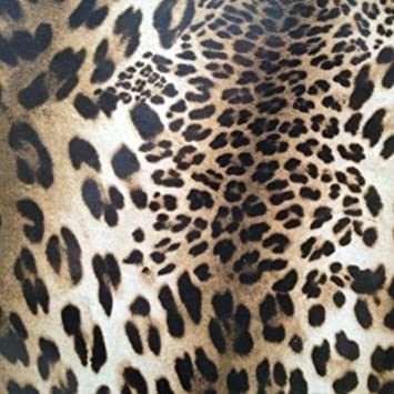 THE TABLECLOTH SHOP Leopard Print Oilcloth Wipe Clean Tablecloth 1.3m Round