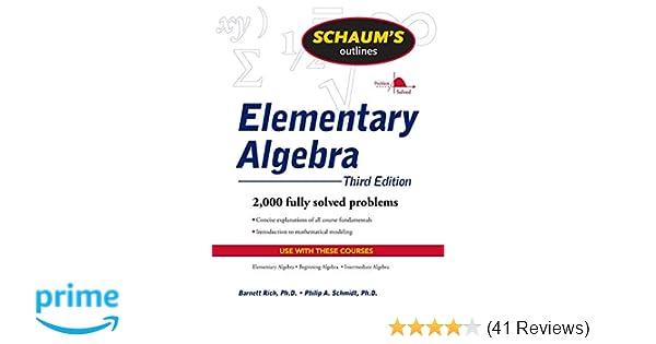 Elementary Algebra: Third Edition (Schaum's Outline of