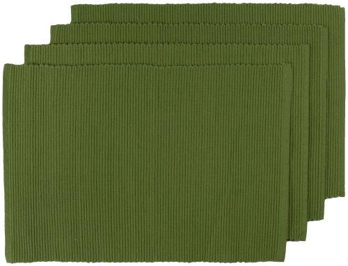 Now Designs Spectrum Basic Cotton Placemats, Set of Four, Fir -