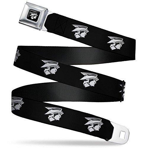 Buckle-Down Men's Seatbelt Belt Ford Mercury Regular, Head Emblem Black/White, 1.5