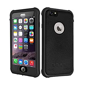 Besinpo iPhone 6 Plus/6s Plus Waterproof Case, Underwater Full Body protection Cases Drop Proof Cover Fully Supports Finger Print Function For iPhone 6S Plus/6 Plus 5.5 inch Only Black