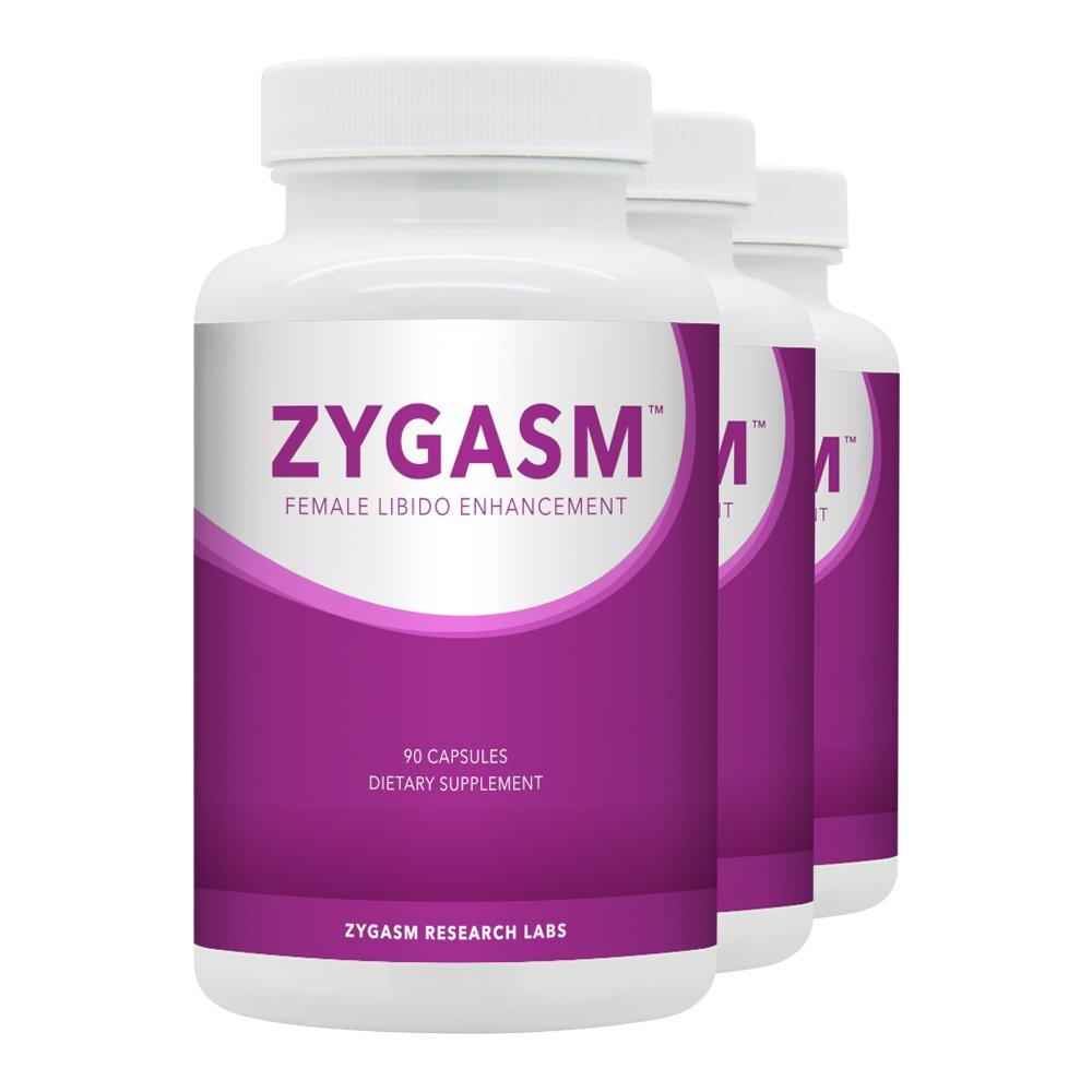 Zygasm (3 bottles) - Best Female Libido Booster - All-Natural Enhancement Supplement For Women (90 Caps Each)