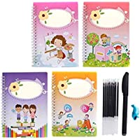 Misnix Magic Calligraphy That Can Be Reused Book, Copybook for Homeschooling, Magic Writing Paste Kindergarten Alphabet Children Grooves, Chinese Calligraphy Paper Book Handwriting Practice