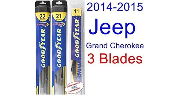 2014 - 2015 Jeep Grand Cherokee (modelos de repuesto para limpiaparabrisas Set/Kit (Goodyear limpiaparabrisas blades-hybrid): Amazon.es: Coche y moto